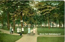 Ogdensburg, NY Girls in Mansion Park 1908