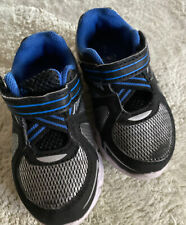 Athletic Works Boys Blue Black Silver Athletic Shoes Toddler Size 7