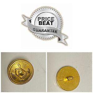 💎Ralph Lauren💎 .80 Replacement 1 Gold Buttons 7/8 Crown Shield Blazer Jacket