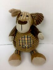 """Jellycat London Corduroy Patches Puppy Dog Brown Plush Stuffed Animal 15"""" Lovey"""