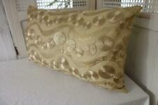 Rectangle Metallic Gold Sequins & Swirls Bed Sofa Lounge Cushion Cover 30x50cm