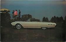 1962 Ford Thunderbird Convertible Adv Chrome Postcard