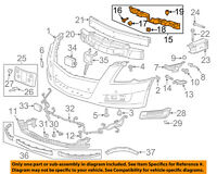 Cadillac GM OEM 13-15 XTS Front Bumper Grille-Center Support 22938069