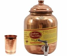 Pure Solid Copper Water Pot Tank Matka Volume 1.5 Liter with 1 Copper Glass