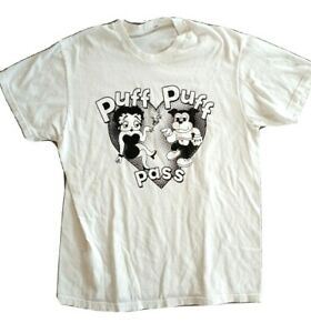 Vintage Betty Boop Weed T Shirt Pot Smoke Marijuana Custom Pop Art Parody