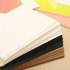 20 Sheets White Thick DIY Blank Post Greeting Card Double Sides Sketch Doodle