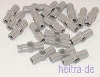 LEGO Technik - 20 x Verbinder Nr. 2 / 180 Grad hellgrau / 32034 NEUWARE
