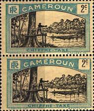CAMEROUN - CAMERUN - 1925-1927 - Segnatasse: uomo abbatte un albero.