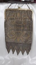 ANTIQUE FRENCH FLAPPER Fleurdeles pattern METAL body of PURSE BAG JUST LOWERE