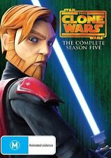 """STAR WARS: THE CLONE WARS"" DVD R4 4-DISC SET- SEASON 5, 20 Ep., Obi-Wan Kenobi"