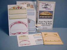Four Peg Shelf  Kit - Kitchen & Bath Kit #DF201 Dollhouse Miniature
