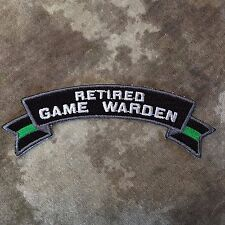Thin Green Line Retired Game Warden Small Rocker Patch