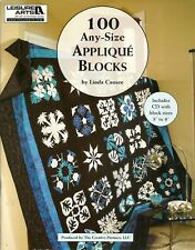 100 ANY-SIZE APPLIQUE BLOCKS BY LINDA CAUSEE INCLUDES CD SOFTCOVER QUILT BOOK