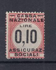 1920 MARCHE DA BOLLO CASSA NAZIONALE ASSICURAZIONI SOCIALI 10 CENT. USATA RARA