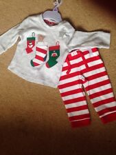 F&F Baby Set. Trousers and top. Christmas theme.. upto 3 months. Bnwt