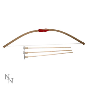 Wooden Bow & 3 Arrows 68cm Medieval Toy