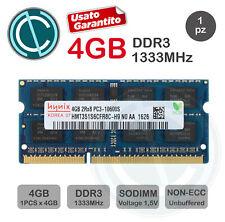 HYNIX MEMORIA RAM 4GB 2Rx8 PC3 10600S DDR3 1333 MHZ SODIMM LAPTOP MACBOOK