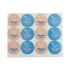120Pcs Smile Thank you Paper Seal Stickers DIY Gifts posted/Baking Decor laLO