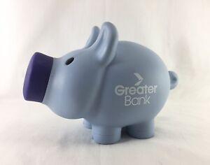 Greater Bank blue pig money box piggy bank removable snout