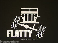 Willys Flex Flatty_CJ2A_Jeep Overland_Sticker/Decal