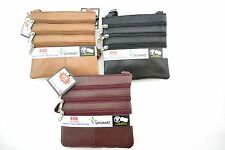 WOMEN'S SECURITY RFID BLOCKER  LEATHER BAG LONG STRAP IDENTITY THEFT PROTECTION