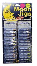 K & E Moon Jigs, Size 12, Uv Blast Glow Ice Jigs, 24/card, 4 Colors #77-12-Ast