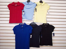 Girls IZOD Uniform Polo Shirts In Assorted Colors Size 5 - 16