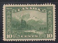 """Canada MINT OG Scott #155 10 cent Mount Hurd """"Scroll"""""""