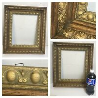 "Antique 1900's Wooden Picture Frame with Gold Trim 14.5"" W x 16.5""T x 2.5""D"