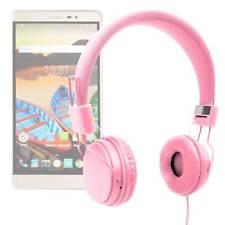 Premium Pink Kids Padded Lightweight Headphones for Lenovo PHAB2 Plus