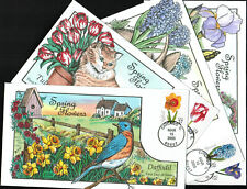 2005 - Collins - Set of 4 Covers - Spring Flowers - #3900-3903