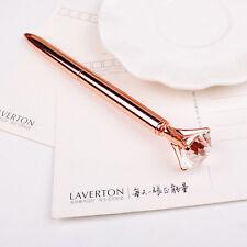 Creative Big Diamond Gem Crystal Ballpoint Pen Stationery Office School Rose HOT