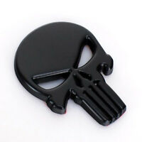 Black Chrome 3D Metal Badge Emblem Decal Sticker Skull Motorcycle Car Logo UK