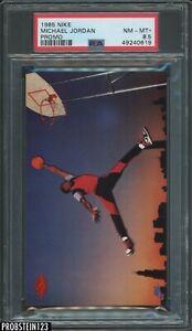 "1985 Nike Promo Basketball Michael Jordan RC Rookie HOF PSA 8.5 "" LOOKS MINT """