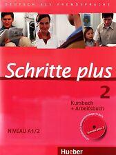 Hueber SCHRITTE PLUS 2 Kursbuch + Arbeitsbuch Niveau A1/2 mit CD @NEW@