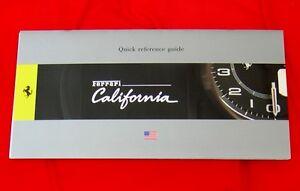 Ferrari California - RARE Owners Handbook Supplement - 2010 - USA - English Text