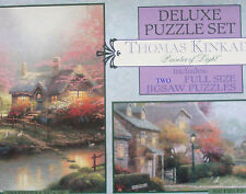 jigsaw puzzle  Thomas Kindade stepping stone cottage & lamplight brooke