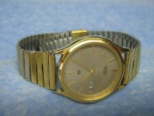 Men's Vintage SEIKO Water Resistant Gold Watch w/ New Battery