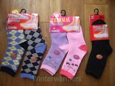 KIDS THERMAL SOCKS WINTER SOCKS SKI SNOW HIKING SOCK BOYS GIRLS WELLY BOBS SOCKS