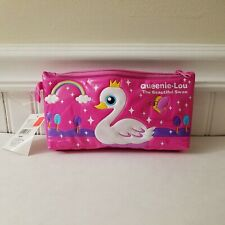 Queenie Lou Swan Queen Duck Pink Padded Pencil Case Pouch -  2003 - Sanrio -RARE