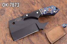 """4.6"""" KMA CUTLERY 52100 BEARING STEEL BLACK COATED MINI CLEAVER CHEF KNIFE 7873"""
