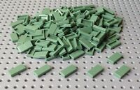 Lego Sand Green 1x2 Flat Tile (3069) x25 in a set *BRAND NEW* City Star Wars