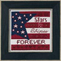 MILL HILL Counted Cross Stitch Kit - PATRIOTIC QUARTET - STARS AND STRIPES