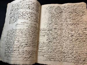 ANTIQUE  PAPER DOCUMENT 1755   32 pages