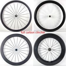 700C 38/50/60/88mm clincher rim road bike 3K UD 12K full carbon bicycle wheelset