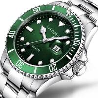 Luxury Men Pro Diver Submariner Black Green Blue Yellow Dial SS Bracelet Watch