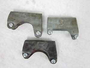 Vintage metal axe handle overstrike collar guard x 3