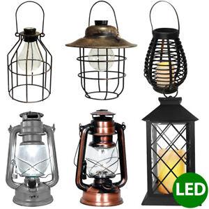 LED Deko-Laterne Hängeleuchte Retro-Design Solar-Laterne  Dekolampe Hängelampe