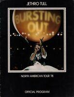 JETHRO TULL 1978 BURSTING OUT U.S. TOUR CONCERT PROGRAM BOOK BOOKLET / EX 2 NMT