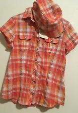 Harley Pearl Snap Shirt With Hat New With Tags Womas